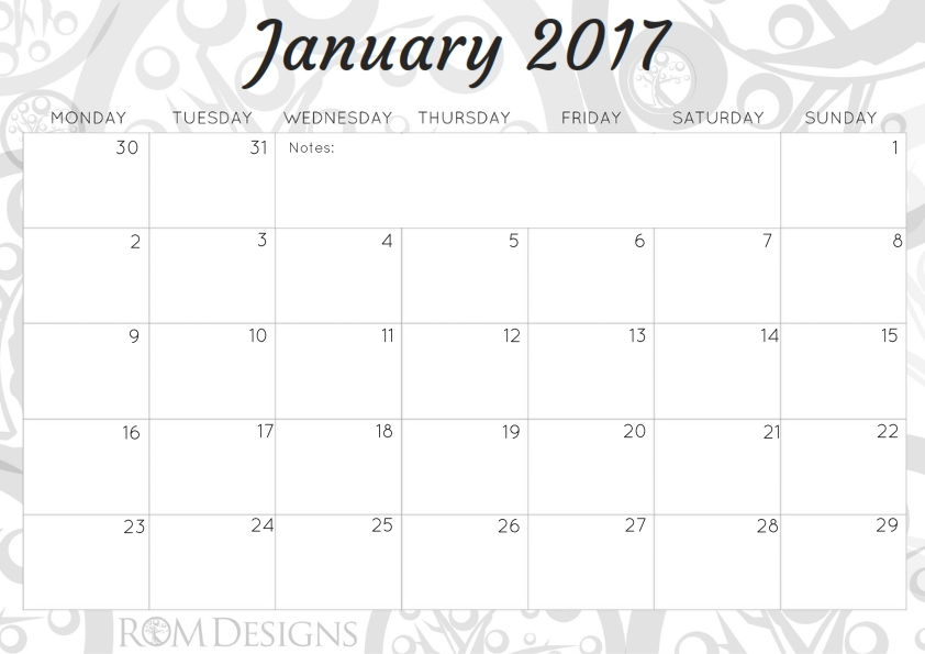 """Be the first to review """"A4 Monthly Calendar 2017"""" Cancel reply"""